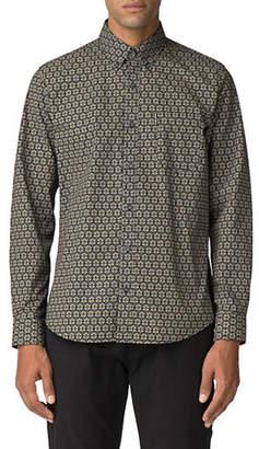 Ben Sherman Mod-Fit Distressed Wallpaper Button-Down Shirt