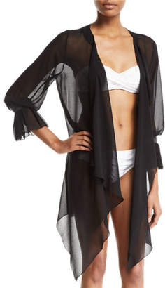 Shan Clara Bell-Sleeve Coverup Kimono