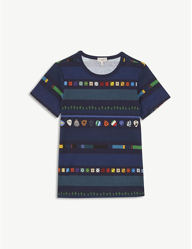 Riddle printed cotton T-shirt 4-16 years