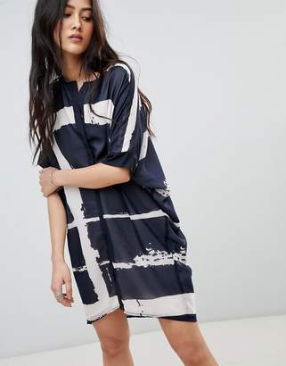 Religion Tunic Shirt Dress in Fence Print