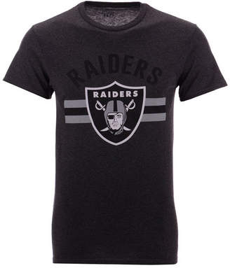 Authentic Nfl Apparel Men Oakland Raiders Checkdown T-Shirt