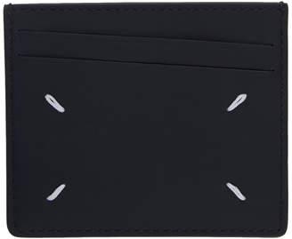 Maison Margiela (メゾン マルジェラ) - Maison Margiela ブラウン and ブラック ステッチ カード ホルダー
