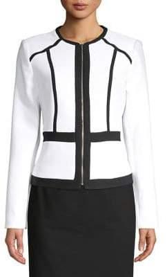 Calvin Klein Trimmed Zip-Up Jacket