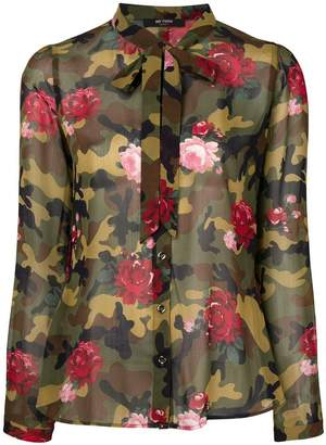 Twin-Set camouflage floral blouse
