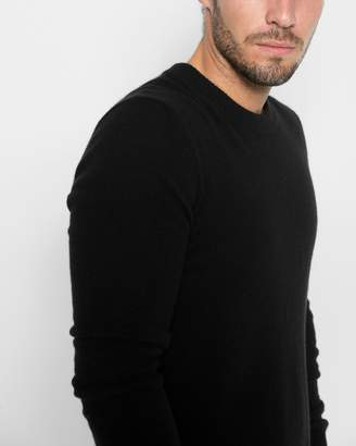 7 For All Mankind Cashmere Crewneck Sweater in Black