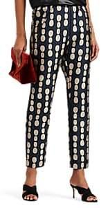 Zero Maria Cornejo Women's Tabi Dot-Jacquard Crop Pants - Ink Jet, greige