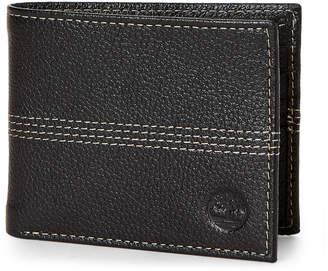 Timberland Black Leather Bi-Fold Wallet