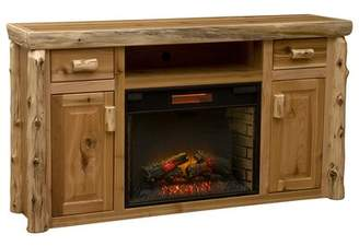 """Fireside Lodge Cedar TV Stand for TVs up to 65"""" with Electric Fireplace Fireside Lodge"""