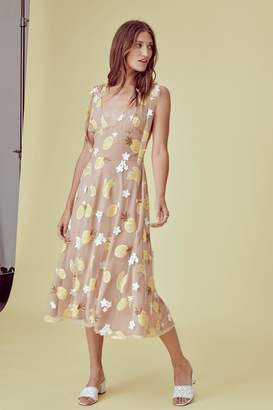 For Love & Lemons Fruitpunch Sequin Midi-Dress