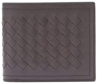 Bottega Veneta Intrecciato Bi Fold Leather Wallet - Mens - Brown