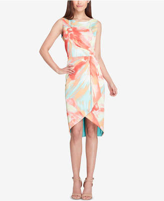 Tahari ASL High-Low Faux-Wrap Dress