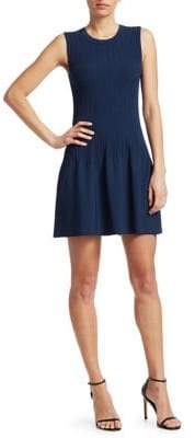 Elizabeth and James Women's Rye Ribbed Fit-and-Flare Mini Dress - Navy - Size XS