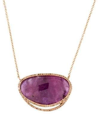 Monique Péan 18K Ruby & Diamond Pendant Necklace