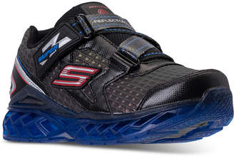 Skechers Little Boys' S Lights: Flex Charge Strap Athletic Sneakers from Finish Line