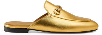 Princetown metallic leather slipper $595 thestylecure.com