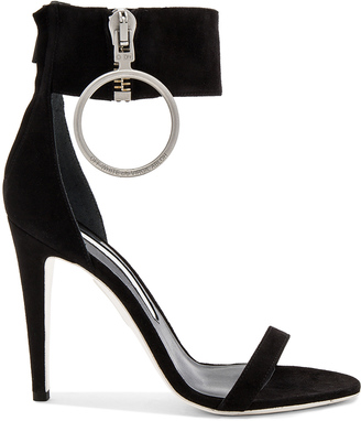 OFF-WHITE Zipped High Sandal Heel $858 thestylecure.com