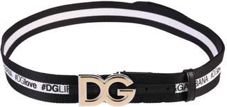 Dolce & Gabbana Black Logo Belt