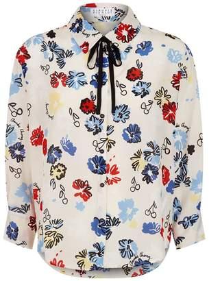 Claudie Pierlot Sketch Floral Print Shirt