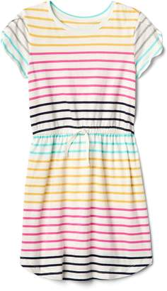 Gap Print cinched-waist jersey dress