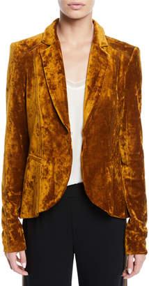 Nanette Lepore Art Lover Crushed Velvet Jacket