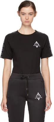 Marcelo Burlon County of Milan Black Kappa Edition Logo T-Shirt