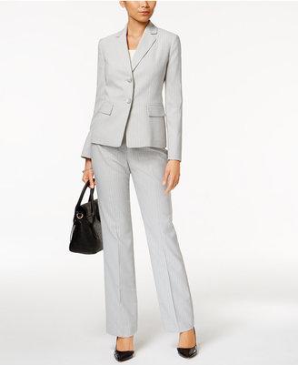 Le Suit Pinstriped Pantsuit $200 thestylecure.com