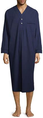 STAFFORD Stafford Men's Solid Flannel Nightshirt - Big