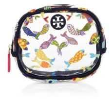 Tory Burch Fish Round Cosmetic Case $95 thestylecure.com