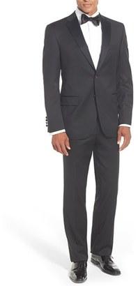 Men's David Donahue Classic Fit Loro Piana Wool Notch Lapel Tuxedo $895 thestylecure.com
