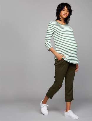 A Pea in the Pod Secret Fit Belly Twill Jogger Maternity Pants