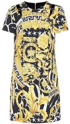 Versace Printed silk-blend minidress