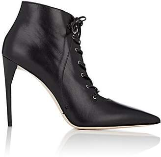 Miu Miu Women's Leather Lace-Up Ankle Boots - Nero