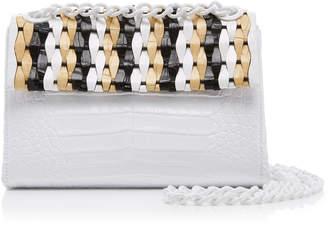 Nancy Gonzalez Small Woven Madison Crossbody Bag in Crocodile