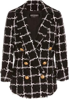 Balmain Tweed Double Breasted Blazer