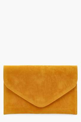 boohoo Suedette Envelope Clutch