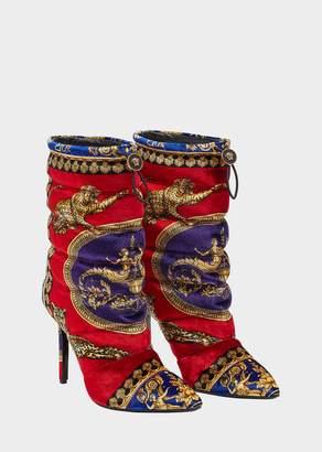 Versace Duvet Pillow Talk Velvet Boots