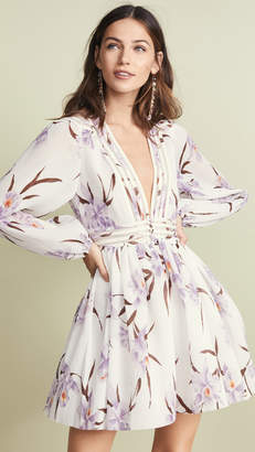 Zimmermann Corsage Plisse Mini Dress