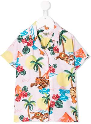 Kenzo tiger print shirt