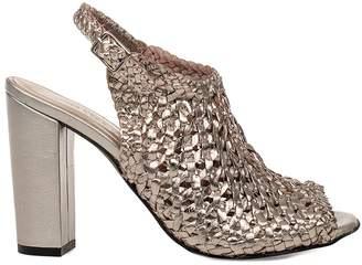 Gold Juliet Leather Heeled Sandal