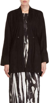 Religion Aura Faux Suede Poncho Jacket