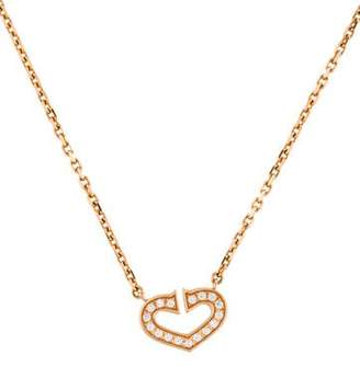 Cartier Diamond Hearts & Symbols Pendant Necklace