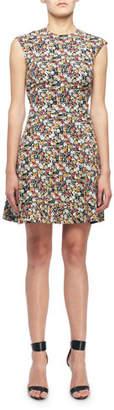 Victoria Beckham Sleeveless Mini floral-Print Fit & Flare Dress