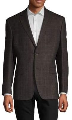 Lauren Ralph Lauren Plaid-Print Wool Jacket