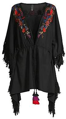 Miraclesuit Amoressa by Women's Camille Indochine Embroidered Beach Wrap