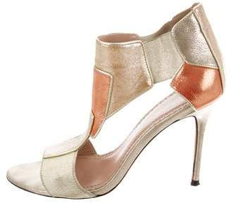 Jean-Michel Cazabat Metallic Cutout Sandals