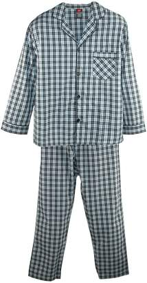 Hanes Men's Big & Tall Broadcloth Long Sleeve Pajama Set, 3XL