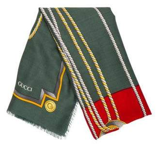 Gucci Square Wool Scarf