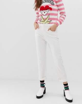 Love Moschino summer white skinny jeans