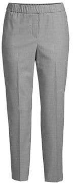 Peserico Pull-On Pant With Chain Stripe