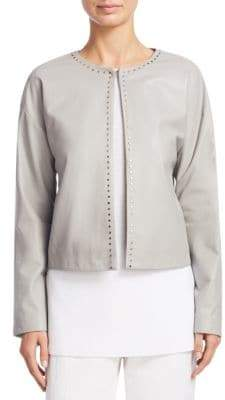 Fabiana Filippi Cropped Leather Coat